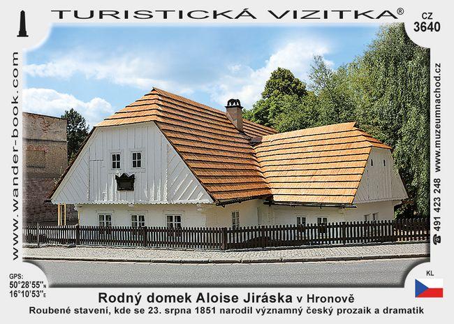 Rodný domek Aloise Jiráska v Hronově