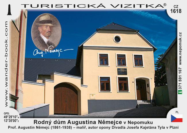 Rodný dům Aug. Němejce v Nepomuku