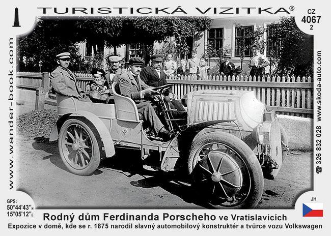 Rodný dům Ferdinanda Porscheho ve Vratislavicích