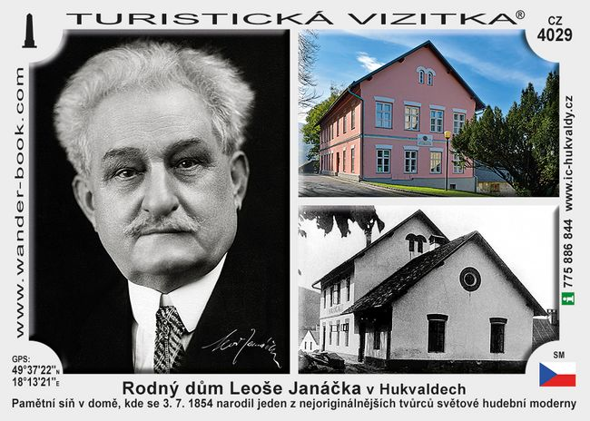 Rodný dům Leoše Janáčka v Hukvaldech