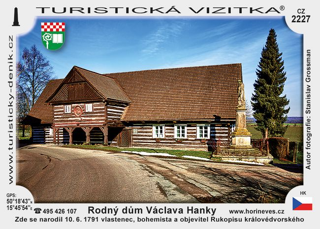 Rodný dům Václava Hanky