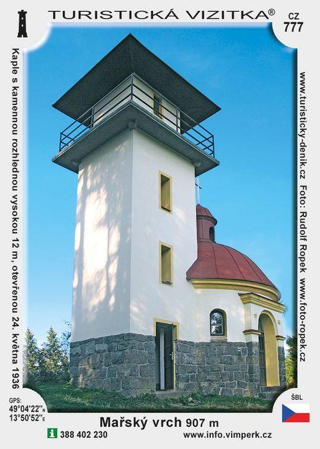 Rozhledna a kaple na Mařském vrchu