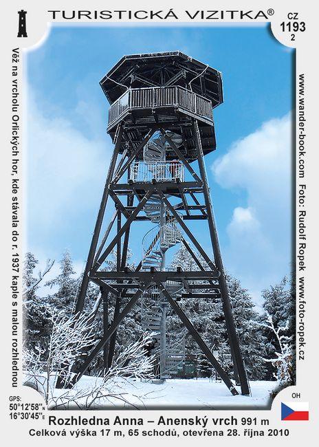 Rozhledna Anna - Anenský vrch