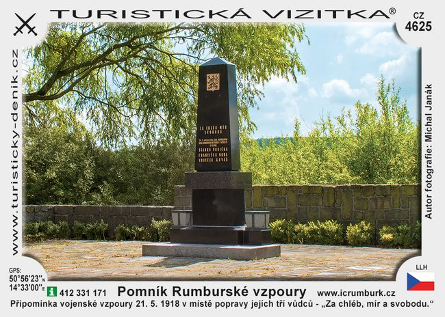 Rumburk památník vzpoury