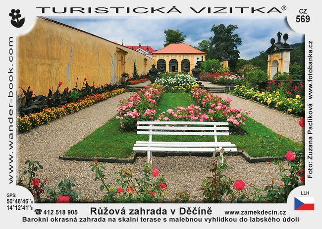 Růžová zahrada v Děčíně
