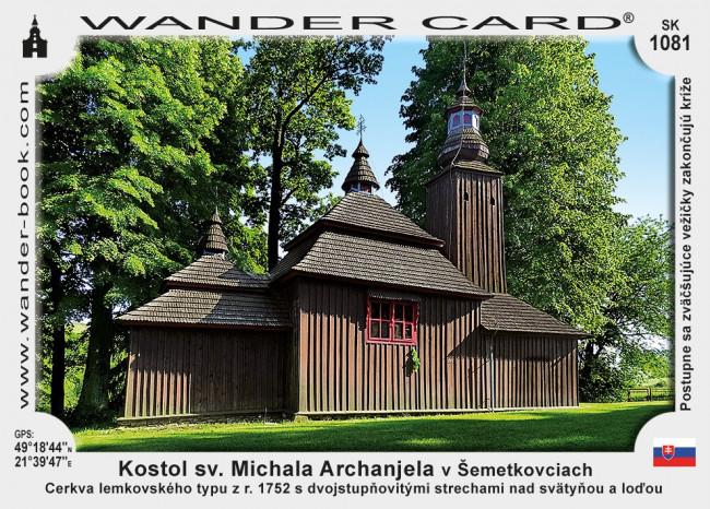Semetkovce sv Michala dreveny kostol