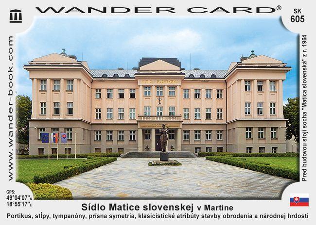 Sídlo Matice slovenskej v Martine