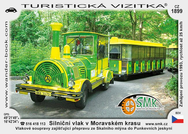 Silniční vlak v Moravském Krasu