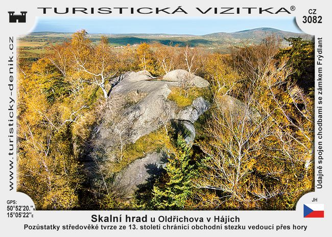 Skalní hrad u Oldřichova v Hájích