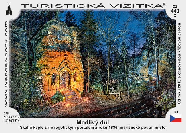 Skalní kaple v Modlivém dole