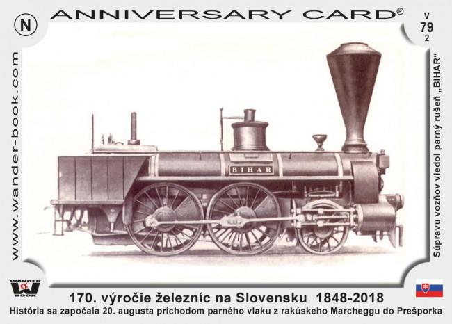 Slovensko 170 vyrocie zeleznic