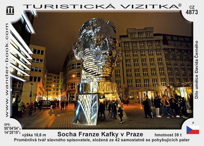 Socha Franze Kafky v Praze