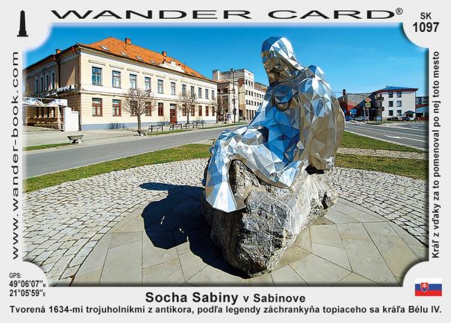 Socha Sabiny v Sabinove