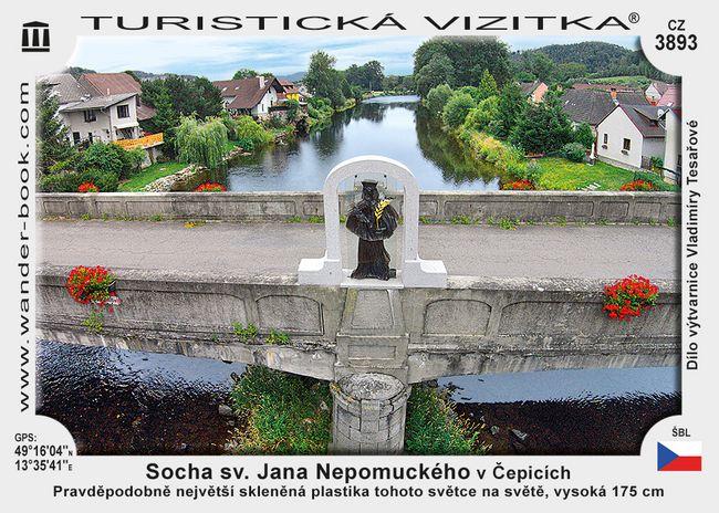 Socha sv. Jana Nepomuckého v Čepicích