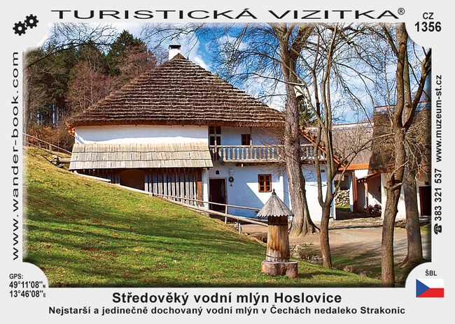 Středověký vodní mlýn Hoslovice