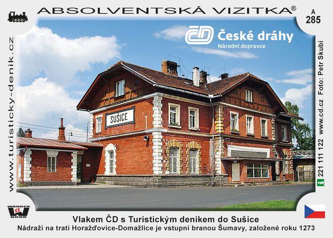 Vlakem ČD s Turistickým deníkem do Sušice