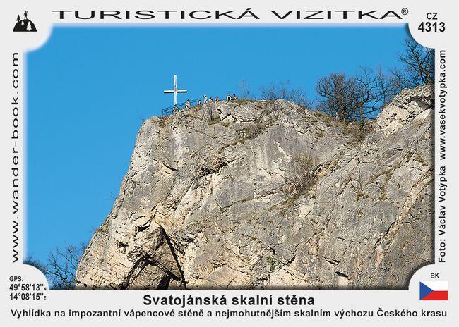 Svatojánská skalní stěna