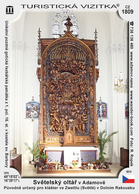 Světelský oltář v Adamově