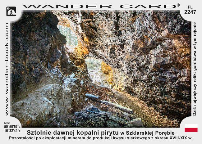Sztolnie dawnej kopalni pirytu w Szklarskiej Porębie