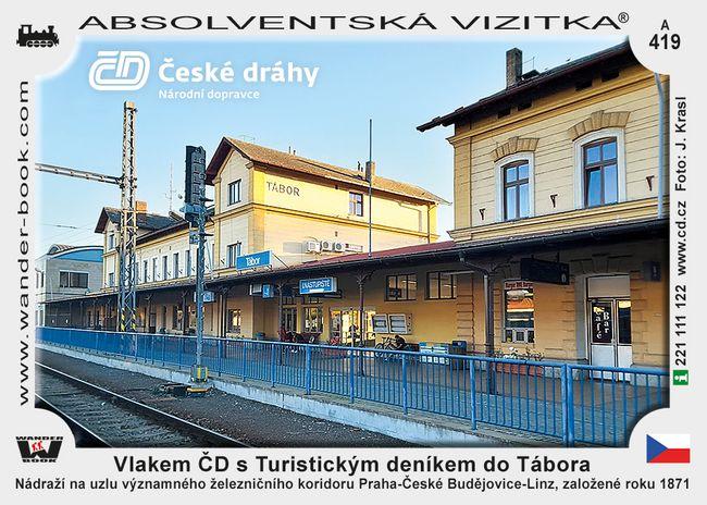 Vlakem ČD s Turistickým deníkem do Tábora