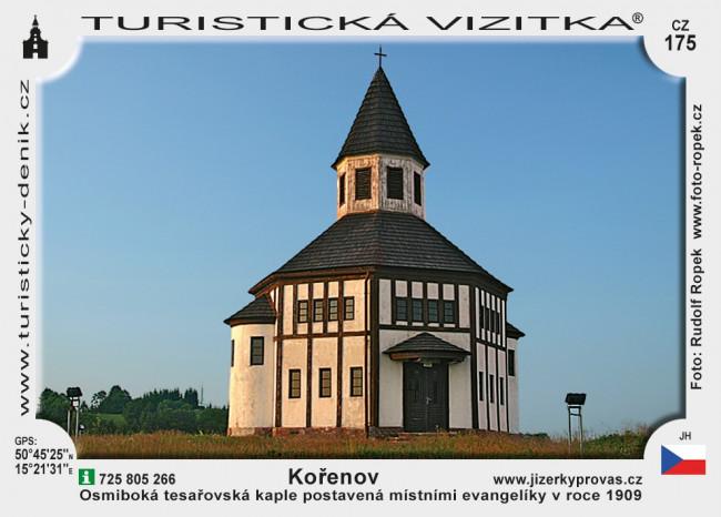 Tesařovská kaple v Kořenově