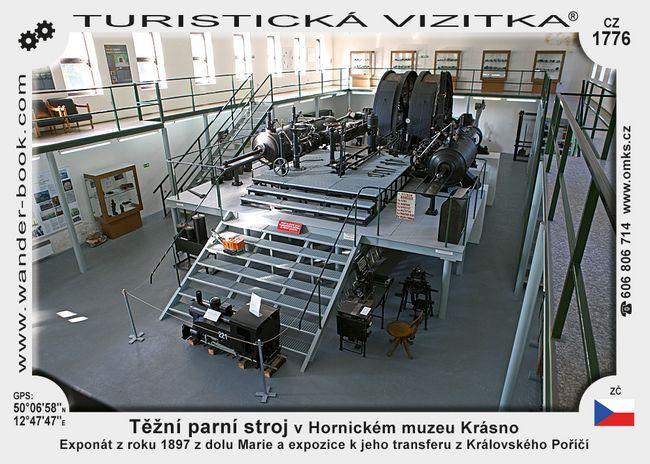 Těžní parní stroj v Hornic. muzeu Krásno