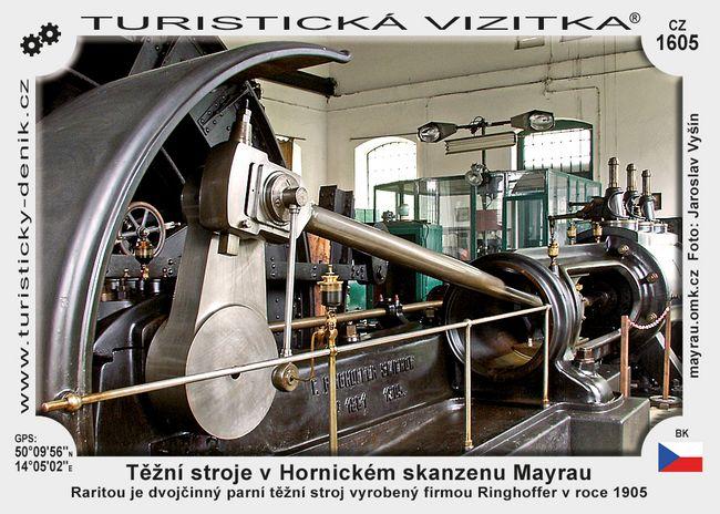 Těžní stroje v Hornic. skanzenu Mayrau