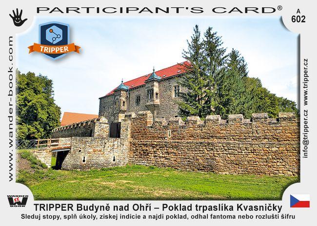 TRIPPER Budyně nad Ohří – Poklad trpaslíka Kvasničky