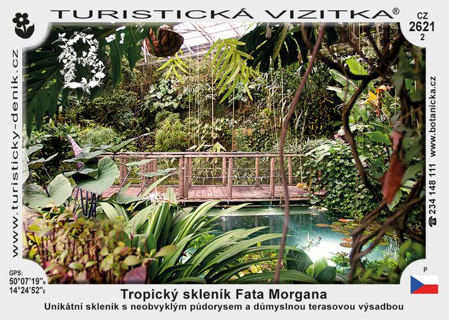 Botanická zahrada Praha – Tropický skleník Fata Morgana