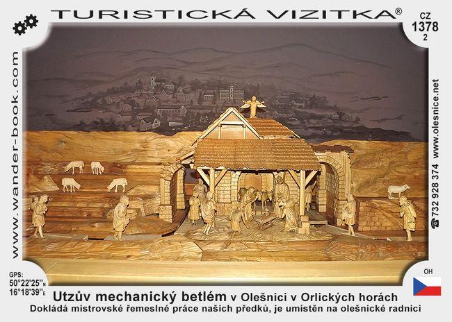 Utzův mechanický betlém v Olešnici v Orlických horách