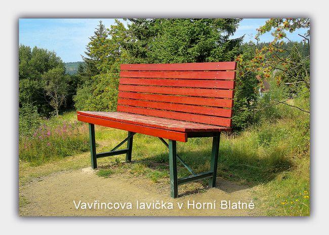 Vavřincova lavička v Horní Blatné