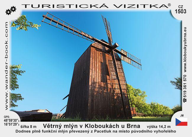 Větrný mlýn v Kloboukách u Brna