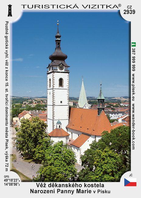 Věž Děkans. kostela Nar. Panny Marie