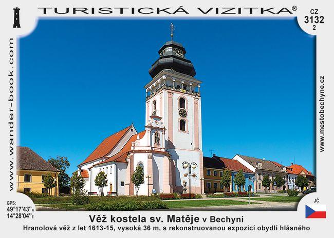 Věž kostela sv. Matěje v Bechyni