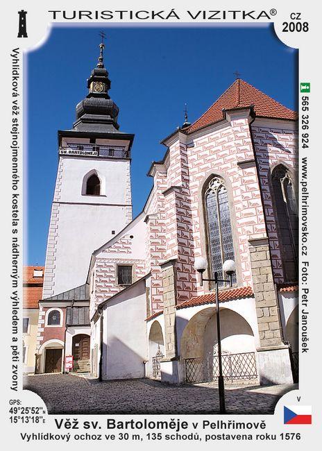 Věž sv. Bartoloměje v Pelhřimově