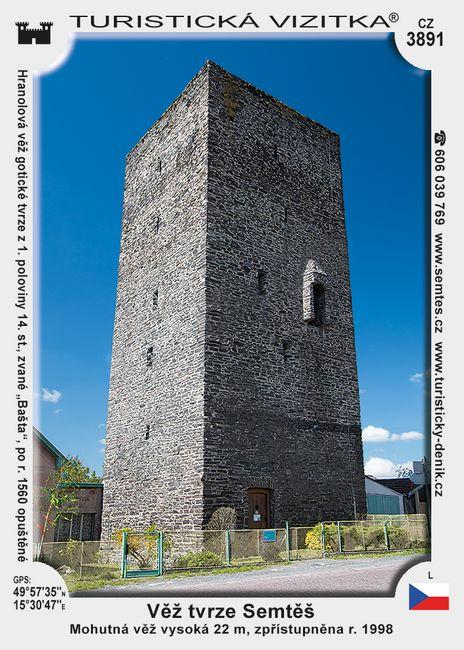 Věž tvrze Semtěš