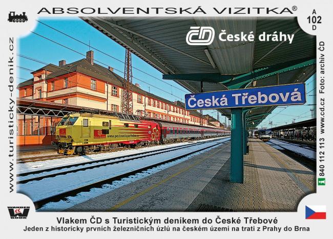 Vlakem ČD s Turistickým deníkem do České Třebové