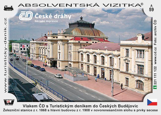Vlakem ČD s Turistickým deníkem do Českých Budějovic