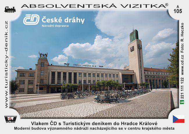 Vlakem ČD s Turistickým deníkem do Hradce Králové