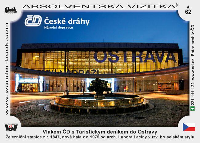Vlakem ČD s Turistickým deníkem do Ostravy