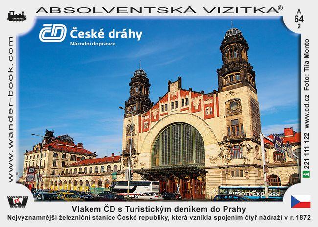 Vlakem ČD s Turistickým deníkem do Prahy