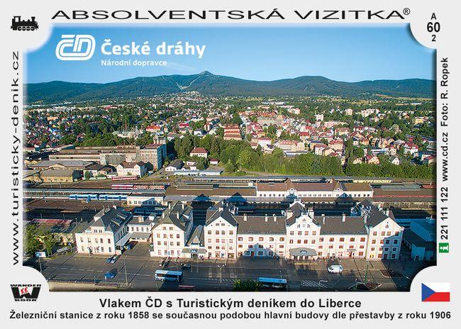 Vlakem Českých drah s Turistickým deníkem do Liberce