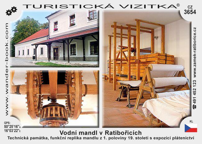 Vodní mandl v Ratibořicích