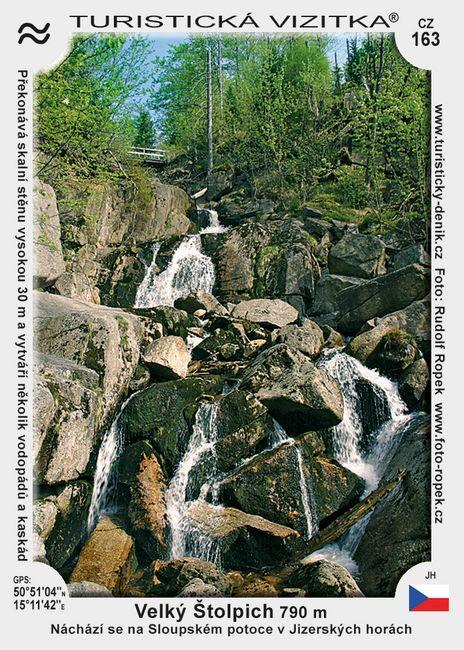 Vodopád Velký Štolpich