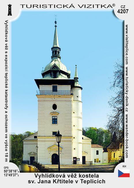 Vyhlídková věž kostela sv. Jana Křtitele v Teplicích
