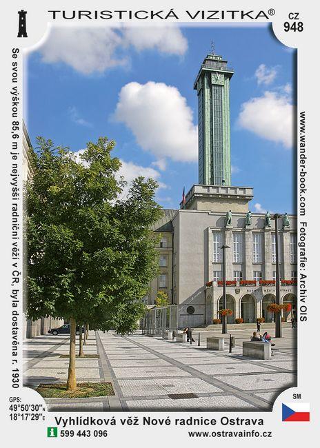 Vyhlídková věž Nové radnice v Ostravě
