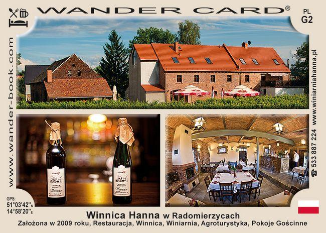 Winnica Hanna w Radomierzycach
