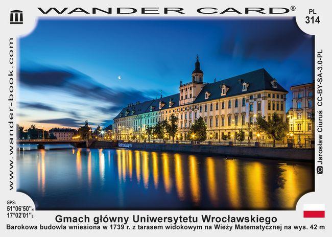 Wrocław uniwersytet gmach główny
