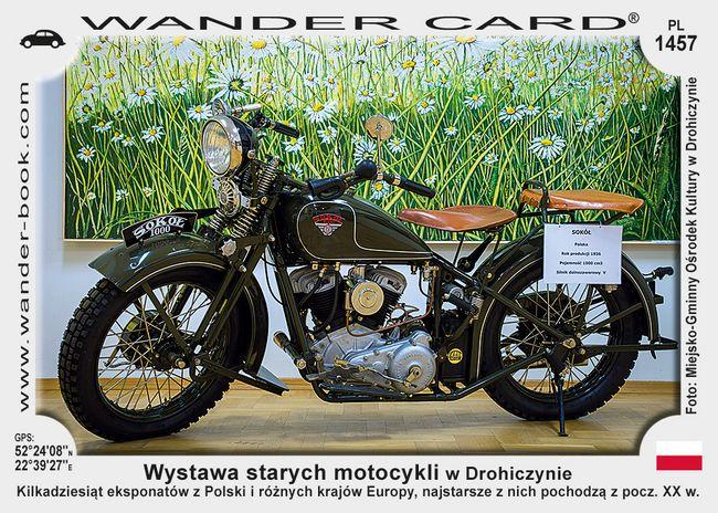 Wystawa starych motocykli w Drohiczynie