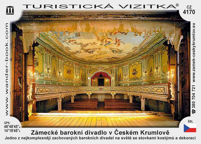 Zámecké barokní divadlo v Českém Krumlově